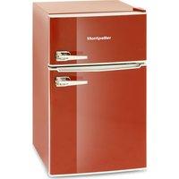 MONTPELLIER MAB2030R Undercounter Fridge Freezer - Red, Red
