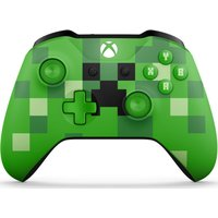 MICROSOFT Xbox Minecraft Creeper Wireless Controller - Green, Green