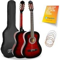 3RD AVENUE STX20 3/4 Size Classical Guitar Bundle - Redburst