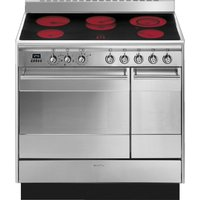 Click to view product details and reviews for Smeg Concert Suk92cmx9 90 Cm Electric Ceramic Range Cooker Stainless Steel Stainless Steel.