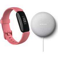 FITBIT Inspire 2 & Nest Mini (2nd Gen) Bundle - Desert Rose & Chalk.