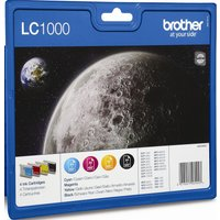 BROTHER LC1000 Cyan, Magenta, Yellow & Black Ink Cartridges - Multipack, Cyan