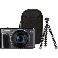 CANON PowerShot SX720 HS Superzoom Compact Camera & Travel Kit - Black