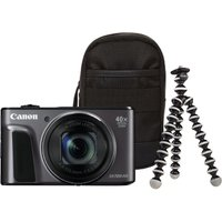 CANON PowerShot SX720 HS Superzoom Compact Camera & Travel Kit - Black, Black