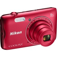 NIKON COOLPIX A300 Compact Camera - Red, Red