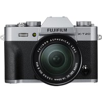 FUJIFILM X-T20 Compact System Camera with XC 16-50 mm MK II f/3.5-5.6 Zoom Lens - Silver, Silver