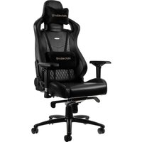NOBLECHAIRS EPIC Real Leather Gaming Chair – Black, Black