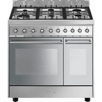 SMEG C92DX9 90 cm Dual Fuel Range Cooker - Stainless Steel, Stainless Steel