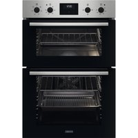 ZANUSSI FanCook ZKHNL3X1 Electric Built-under Double Oven - Stainless Steel, Stainless Steel
