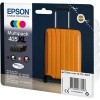 EPSON Suitcase 405 XL Cyan, Magenta, Yellow & Black Ink Cartridges - Multipack, Cyan