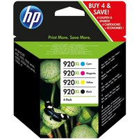 HP 920XL Cyan, Magenta, Yellow & Black Ink Cartridges - Multipack, Cyan
