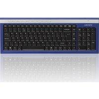 ADVENT AKBWLBL15 Wireless Keyboard - Blue & Silver, Blue
