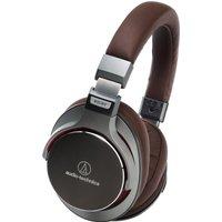 AUDIO TECHNICA ATH-MSR7GM Headphones - Gunmetal & Brown, Brown