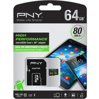 PNY Performance Class 10 microSD Memory Card - 64 GB
