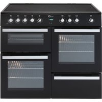 FLAVEL Milano 100 MLN10CRK Electric Range Cooker - Black & Chrome, Black