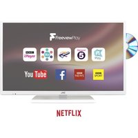 32 JVC LT-32C676 Smart LED TV with Built-in DVD Player - White, White