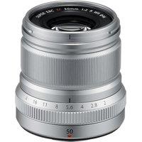 FUJIFILM Fujinon XF 50 mm f/2 WR Standard Prime Lens, Silver