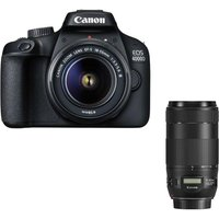 CANON EOS 4000D DSLR Camera, EF-S 18-55 mm f/3.5-5.6 Lens & EF 70-300 mm F/4-5.6 Lens Bundle