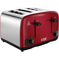 Buy RUSSELL HOBBS Cavendish 24092 4-Slice Toaster - Red, Red - Currys