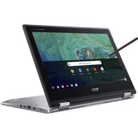 "Acer Spin 11 11.6"" Intel Celeron 2 in 1 Chromebook - 16 GB eMMC, Silver, Silver"