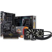 AMD Ryzen 7x Processor, TUF X570 PLUS Motherboard, 16GB RAM & Corsair Cooler Components Bundle