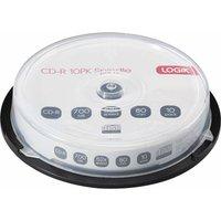 LOGIK 52x Speed CD-R Blank CDs - Pack of 10.