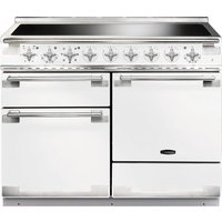 RANGEMASTER Elise 110 Electric Induction Range Cooker - White and Chrome, White