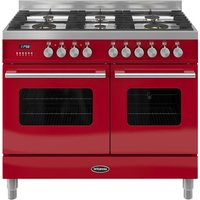 BRITANNIA Delphi RC10TGDERED Dual Fuel Range Cooker - Red, Red