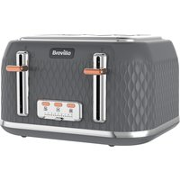 Buy BREVILLE Curve VTT912 4-Slice Toaster - Granite Grey, Grey - Currys PC World