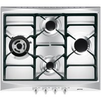 SMEG SR264XGH Gas Hob - Stainless Steel, Stainless Steel