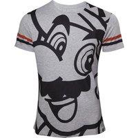 MARIO Melange T-Shirt - Medium, Grey, Grey