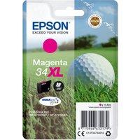 EPSON 34 Golf Ball XL Magenta Ink Cartridge, Magenta