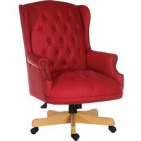 Chairman Rouge Bonded-leather Tilting Executive Chair -
