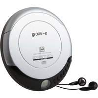 GROOV-E Retro GV-PS110-SR Personal CD Player - Silver, Silver