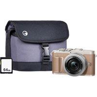OLYMPUS PEN E-PL10 Mirrorless Camera with M.ZUIKO DIGITAL ED 14-42 mm f/3.5-5.6 EZ Lens, Case & Memory Card Kit - Brown, Brown