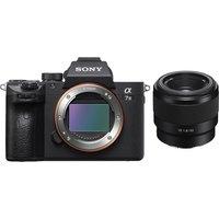SONY a7 III Mirrorless Camera & FE 50 mm f/1.8 Lens Bundle, Black.