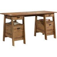 TEKNIK 5424127 Executive Trestle Desk - Oak.