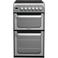 HOTPOINT Ultima HUE52GS 50 cm Electric Cooker - Graphite, Graphite