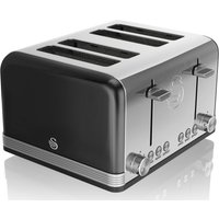Buy SWAN Retro ST19020BN 4-Slice Toaster - Black, Black - Currys PC World