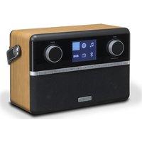 Roberts Stream 94i Portable Dabﱓ Smart Bluetooth Clock Radio - Black & Wood, Black