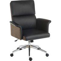 TEKNIK Elegance Medium Faux-Leather Executive Chair - Black