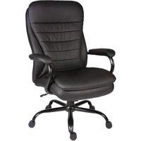 TEKNIK Goliath B991 Bonded Leather Reclining Executive Office Chair - Black, Black