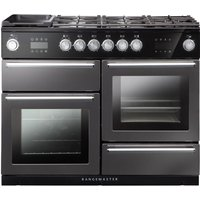 RANGEMASTER Nexus Steam 110 cm Dual Fuel Range Cooker - Slate, Red