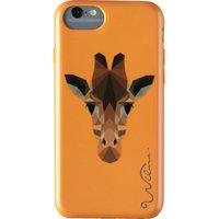 WILMA Electric Savanna Giraffe iPhone 6, 6s, 7, 8 & SE Case - Orange, Orange
