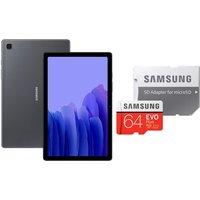 """Samsung Galaxy Tab A7 10.4"""" Tablet & 64GB microSD Memory Card Bundle - 32GB, Grey,"""