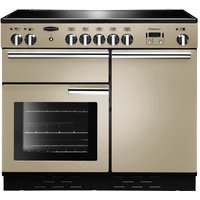 Rangemaster Professional+ 100 Electric Induction Range Cooker - Cream and Chrome, Cream