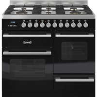 BRITANNIA Delphi 100 XG Dual Fuel Range Cooker - Gloss Black and Stainless Steel, Stainless Steel