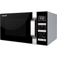 SHARP R760SLM Microwave with Grill - Silver & Black, Silver
