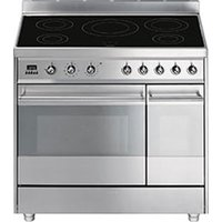 SMEG Symphony 90 cm Electric Induction Range Cooker - Stainless Steel, Stainless Steel