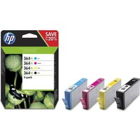 HP 364XL High Yield Original Cyan, Magenta, Yellow & Black Ink Cartridges - Multipack, Cyan